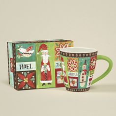Lang Folksy Christmas Coffee Mugeatures Includes coordinating gift box Microwave and dishwasher safe Art-wrapped exterior and full-color icon inside Designer: Wendy Bentley Capacity: 17 Ounces Product Details Material: Ceramic Microwave Safe: Yes Dishwasher Safe: Yes Capacity: 17oz.