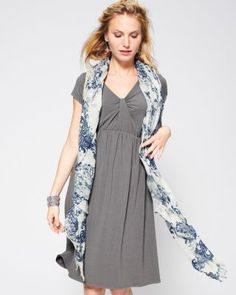 Women's Twisted-Detail Knit Dress - Garnet Hill