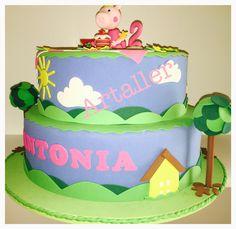 Bolo Fake Peppa, festa infantil, menina, rosa, Candy Bar, porcelana fria.