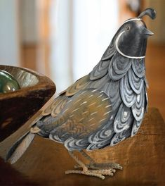 Metal Quail Bird - Click to enlarge