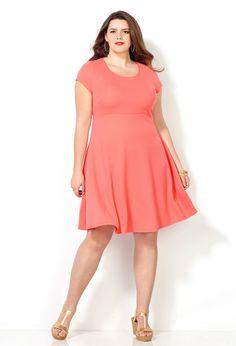 Coral Color Plus Size Dresses