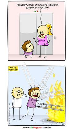 Ya sabéis que hacer en caso de incendio  El original AQUÍ