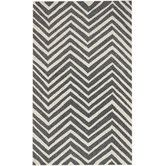 Found it at Wayfair - Trellis Charcoal Chevron Rug