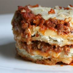 """Beefy Baked Ravioli I """"Wow! Simple and great! And contrary to some of the mean things people have said, it is cooking! It leaves a lot of room to add your own touches and get creative!"""""""