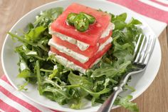 Watermelon And Feta Salad With Serrano Chile Vinaigrette Recipe - Genius Kitchendevice-iconsdevice-icons Cookout Side Dishes, Summer Side Dishes, Summer Salad Recipes, Summer Salads, Summer Food, Summer Treats, Summer Fruit, Watermelon And Feta, Watermelon Recipes