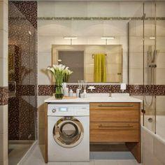 Construindo Minha Casa Clean: 22 Áreas de Serviço no Banheiro - Veja como Integrar!