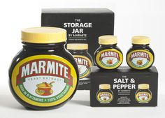 Marmite Gifts, Yeast Extract, Jar Storage, Sauce Bottle, Soy Sauce, Vitamins, Stuffed Peppers, Food, Stuffed Pepper