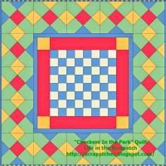 "Life in the Scrapatch: ""Checkers In the Park"" Picnic Quilt ~ Free Quilt Tutorial"