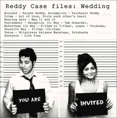 Funny Wedding Invitation Ideas: 17 Invites That'll Leave The Guests ROFL! invitations wording funny Funny Wedding Invitation Ideas: 17 Invites That'll Leave The Guests ROFL! Indian Wedding Invitation Wording, Quirky Wedding Invitations, Marriage Invitation Card, Invitation Ideas, Wedding Wording, Cricut Wedding, Invitation Templates, Invites, Funny Wedding Cards