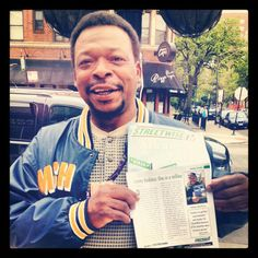 """This photo was taken by Emale Gray. He wrote in and told us that StreetWise Vendor Jimmy Beckless is his favorite """"Hyde Park StreetWise Consultant."""" Thanks, Emale!"""