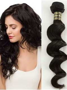 22+Inches+Wavy+Black++#1++7PCS+Clip+in+Remy+Human+Hair+Extensions