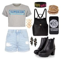 """""""School"""" by deborahoyetunde ❤ liked on Polyvore featuring Être Cécile, Topshop, Dolce&Gabbana, Chan Luu and Monsoon"""