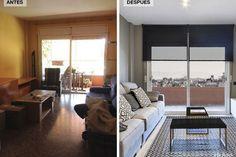 Reforma de un piso de 90 m2, antes y después.