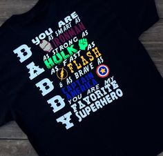"Daddy Is My Favorite Superhero Shirt Father's Day Shirt Best Gift Ever. ""Daddy Is My Favorite Superhero Shirt Father's Day Shirt Best Gift Ever T-Shirt & Hoodie, Sweatshirt""Product DescriptionWe Use High Quality And Eco-friendly Material And Inks! We Promise That Our Prints Will Not Fade, Crack Or Peel In The Wash. The Ink Will Last As Long As The Garment! We Do Not Use Cheap Quality T-shirts Like Other Sellers. Our Shirts Are Of High Quality And Super Soft! Perfect Fit For Summer Or Winter…"