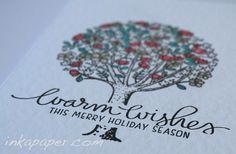 Christmas Card ideas using Mama Elephant Tree Friends