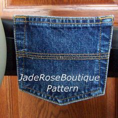 Jean Pocket Pouch for Wheelchair Pattern to by JadeRoseBoutique, $3.50