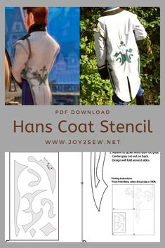 Use any fitted coat and apply this stencil to create a costume for our favorite Disney Villian Halloween Cosplay, Cosplay Costumes, Halloween Costumes, Group Halloween, Disney Villain Costumes, Disney Villains, Frozen Hans, Frozen Musical, Costume Patterns