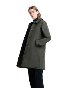 Mac Jacket Insulated Womens | Herschel Supply Company Woodland Camo, Herschel Supply, Point Collar, Welt Pocket, Hemline, Raincoat, Mac, Cotton, Jackets