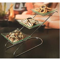 Carnegie Place  3 Tier Diagonal Serving Tray