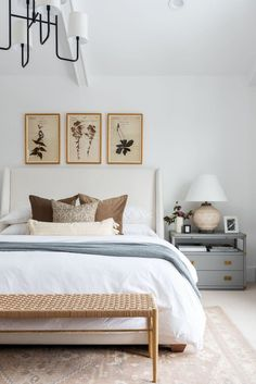 Shop Walt Bed, Herbarium Study III, Herbarium Study I, Herbarium Study II, Go Lightly Medium Chandelier, Zaragoza Wool Rug, Kelan 2-Drawer Nightstand, Eloise Woven Bench, Cooper Woven Pillow Cover, Lyla Velvet Pillow Cover, Embroidered Floral Duvet Cover and more