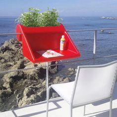 balKonzept, A Mini Table That Mounts to a Balcony Railing