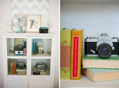 chevron painting and camera collection