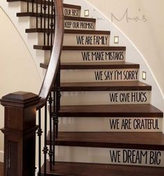 In This Home We Love - Stairs Decal #LogHomeDecorating #LogHomeInteriors