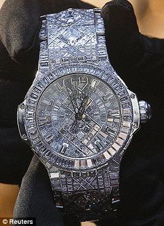 the world's most expensive timepiece.  Hublot's new watch, which has a price tag of $5 million, dazzles with a staggering 140 carats of diamonds, all set in white gold