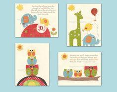 Nursery art prints Baby Room decor Nursery Art by DesignByMaya