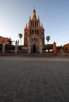 Church of St. Michael in San Miguel de Allende, Mexico in the first rays of morning light~~photographed by Jean Fogelberg