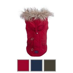 Keep your dog safe and warm with this waterproof dog parka.