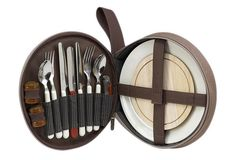 Deluxe Travel Picnic Set for 2, Brown | Party Out Back | One Kings Lane