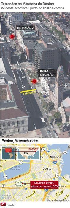 Explosões deixam mortos e feridos na chegada da Maratona de Boston | Incidente ocorreu próximo à linha de chegada da tradicional corrida de rua. Há 2 mortos e 23 feridos pelo menos; Nova York aumentou policiamento. http://mmanchete.blogspot.com.br/2013/04/explosoes-deixam-mortos-e-feridos-na.html#.UWx3uLU3uHg