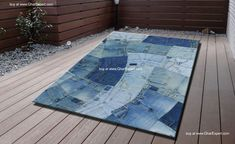 Recycled jeans carpet for chil....