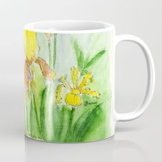 "How about a ""Good Morning Coffee"", in #mugs  which does not have everybody? - #flower  Power rules! 😉✌️👍🌻🌺💐🌷🌹🥀🌼 - The origiinal I painted with #watercolor. - #flower power rules!!! -  Check my #artprint s on #society6 ."