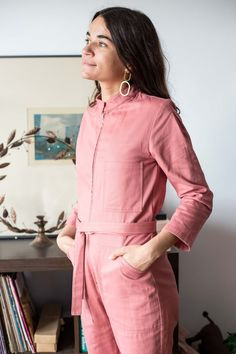 1759b58f11bb A feminine take on the utilitarian coveralls. The Dagg   Stacey Finch  Boiler Suit is