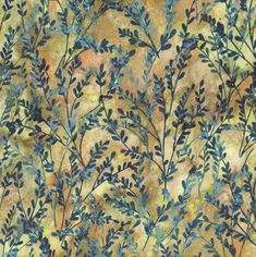 Beautiful botanical hand dyed batik from Hoffman. Find it at beehappyquilting.com  #batik #batik fabric #quiltingfabric