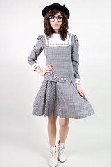blaise checkered dolly dress