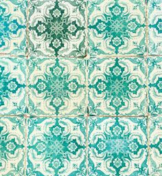 (10) The tile love is real 💚💙 #lisbontiles