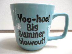 Yoo-hoo! Big summer blowout! - Coffee Mug inspired by the Disney movie Frozen by MenagerieMagique on Etsy