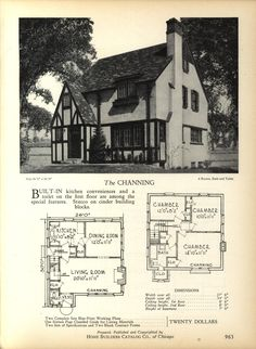 The CHANNING - Home Builders Catalog: plans of all types of small homes by Home Builders Catalog Co.  Published 1928