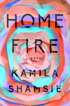 Kamila Shamsie's Home Fire has a gorgeous book cover and is a must-read book club book. Check out this list for more book club ideas! Best Books Of 2017, New Books, Good Books, Books To Read, Books 2018, Literary Fiction, Fiction Books, Cover Design, Book Design
