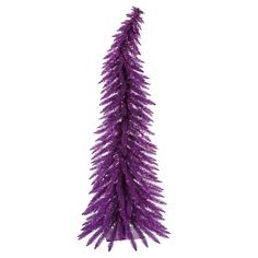 5ft. Pre-Lit Artificial Christmas Tree Whimsical Pine - Purple Lights : Target