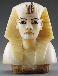 A canopic stopper found in Tut's tomb.