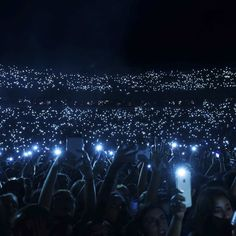 Festivalgoers hold up their cellphones in unison during Skrillex's set at the 2015 Billboard Hot 100 Music Festival at Nikon at Jones Beach Theater on Sunday, Aug. 23, 2015, in Wantagh, N.Y. (Photo by Scott Roth/Invision/AP)