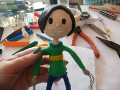 A cute stop motion puppet designed by Titi. Hard work, but with love, fun. http://johnpirilloauthor.blogspot.com/