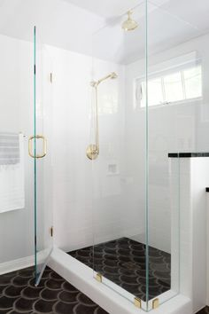 """Nothing says luxury like an over-the-top <a href=""""http://georgesshowroom.com/ """" target=""""_blank"""">shower head</a>."""