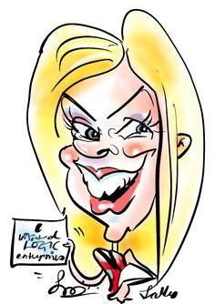 Digital caricature on the spot