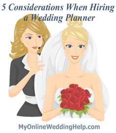 How to go about hiring a #wedding planner for various levels of service.