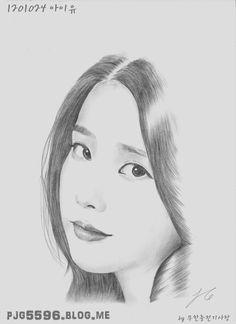 Kpop Drawings, Pencil Art Drawings, Art Drawings Sketches, Pink Drawing, Persona, Kpop Fanart, Pencil Portrait, Drawing People, Disney Art